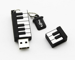 Wholesale 64gb Gift - New Cartoon Piano Model USB 2.0 32GB Flash Drive Memory Stick Pendrive Gift U Disk 32GB 64gb 128gb 256gb