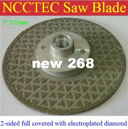 """Wholesale Diamond Stone Saw - 5"""" 2-sided Electroplated Diamond circle saw blade FREE shipping 