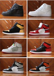 Wholesale Basketball Backboard Sizes - Wholesale 2016 air retro 1 Banned Chicago Mid hare man basketball shoes Shattered Backboard sports shoes size eur 41-47 free shipping