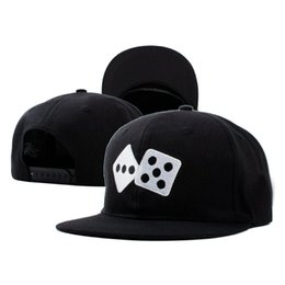 Wholesale Dice Caps - 1 Color Dice snapback cap Fresh Baseball Caps Fashion hat Sports Bone Women Hats Men gorras Caps Casual casquette 770