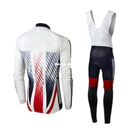 Wholesale Sky Cycling Jersey Long - 2016 SKy White Pro cycling jersey long sleeves Cycling Jersey Set Quick Dry Compressed Autumn None Fleece Winter Fleece Size XS-4XL
