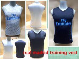Wholesale Thai Soccer Shirts Free Shipping - 2017 real madrid sleeveless soccer shirts football training vest Top Thai Quality NAVAS RONALDO ASEN soccer sleeveless jersey free shipping