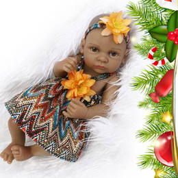 Wholesale Vintage Baby Dolls - 28cm Full Silicone Baby Reborn Lifelike vinyl Dolls Baby Toys Shower Dolls with hairband Kid's Playmates Gifts Brinquedos Vintage style