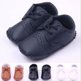 Wholesale Baby Boys First Walking Shoes - 2016 New Style Baby Shoes Manual Suture Environmental PU 4Colour Kids Cute Shoes Infant Shoes Boy Girl First Walking Shoes Baby Footwear