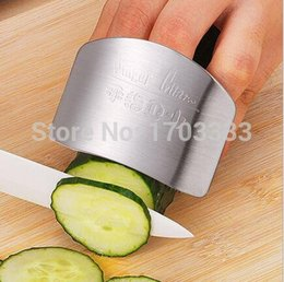 Wholesale Gadget Guard - 2016 New Stainless Steel Metal Finger Guard Protector Kitchen Knife Chop Cook Cut High quality Kitchen gadget 160318#