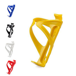 Wholesale Water Bike Sale - Wholesale-New Hot sale Black Yellow Cycling Mountain Sport Bike Bicycle Plastic Drinks Water Bottle Holder Cages Bike Accessories 5Colors