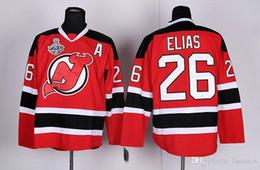 Wholesale Discounted Hockey Jerseys - 2017 Wholesale Retail Discount Cheap High Quality New Jersey Devils Patrik Elias Jersey #26 Retro Red Black White Ice Hockey Jerseys