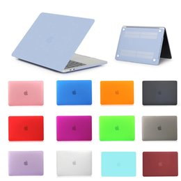 Wholesale Macbook Cover 15 - For Macbook 11 12 13 15 Air Pro Retina Laptop Case Netbook Frosted Matt Rubberized Front + Back Hard PC Case Cover