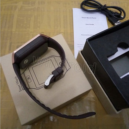 Wholesale camera sms - Hot selling Smart Watch phone GV08 upgrade HD DZ09 Sync Smartphone Call SMS Anti-lost Bluetooth Bracelet Watch for apple iphone samsung 10