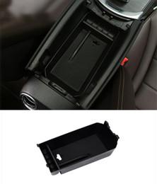 Boîte de rangement de la boîte de rangement de la boîte d'accoudoir de centre de voiture décorative couvre ABS pour Mercedes Benz Classe C W205 GLC X205 2015-17 ? partir de fabricateur