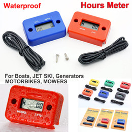 Wholesale Dirt Bike Hour Meter - New Hour Meter Tachometer Digital LCD ATV Motorcycle Generator Bike Waterproof Hours Meter for Dirt Quad Bike jet ski boat Snowmobile
