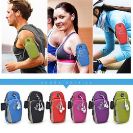 Wholesale Arm Pocket Armband - Sports mobile phone arm bag For iphone6 plus Stylus Waterproof Nylon Universal Running Phone Bag Sport Arm Band Case outdoor article bag