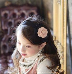 Wholesale Headband Handband - 2017 Girls Hair Accessories Children Handbands Kids Silk Flower Style Floral Hair Stick Hair band Baby Cute Bowknot Hair Clasp Handband