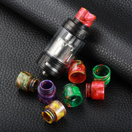Wholesale Rt Free - Melo RT 25 Drip Tip Epoxy Resin Melo RT25 Drip Tips Colorful Wide Bore Mouthpiece for The avengers 10mm RDA DHL Free