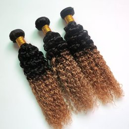 Wholesale Brazilian Straight Perm - Virgin Human Hair Extensions Ombre Brazilian Hair Bundles Two Tone Wefts Peruvian Indian Malaysian Cambodian Bulk Hair Extensions Wholesale