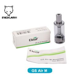 Wholesale Dual Coil Ecig - Eleaf GS Air-M Atomizer 4ml GS Air M Air-MS vaporizer with 1.5ohm Dual coil Airflow Control tank for 510 thread ecig batteries