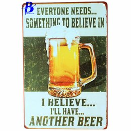 """Wholesale Vintage Beer Neon Signs - Wholesale- Custom Neon Sign I Belive...i'll Have.another Beer""""Vintage Metal Tin Signs Retro Tin Plate Sign Wall Decoration Metal Crafts Pub"""