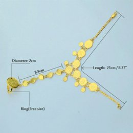Wholesale Ancient Gold Beads - Wholesale Gold Coin Bracelet for Women,Arab Chain Middle Eastern Gift,Ancient Coins Jewelry Africa Indian Wedding Item Popular