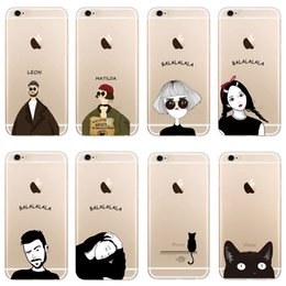 iphone case cat animal Australia - Creative Female Models Slim Clear Transparent Soft TPU Colored Drawing Cat Animal Cover For iPhone 7 6S Plus Case