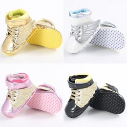 Wholesale Baby Crib Shoe Sizes - Wholesale- Fashion 0-18M Toddler Kids Baby Boy Girls Soft Sole Crib Shoes First Walkers Lot Size
