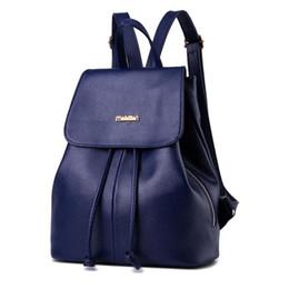Wholesale leather knapsack women - Students Backpack Women Shoulder Bag Designer College PU Leather Girl Rucksack Cute Fashion Ladies Bags Handbags Knapsack Travel Bags