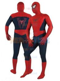 Costume classique spiderman en Ligne-Vente chaude Classique Spiderman Costume Cosplay Zentai Lycra Spandex Spidex Costume Spiderman Complet Corps Costume Halloween Enfants Adulte avec Livraison Gratuite