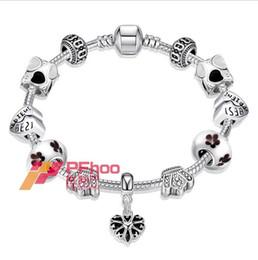 Wholesale Sterling Silver Personalized Charm - Wholesale fashion jewelry, personalized heart-shaped bracelet Ms. paint PDRH034