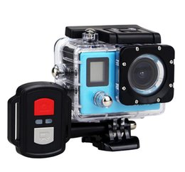 Wholesale Action Cam Waterproof - 2017-H22R 4K Wifi Action Camera 2.0 Inch 170D Lens Dual Screen Waterproof Extreme Sports Camera pro HD DVR Cam+ Remote control