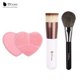 Wholesale Hair Items - Ducare Foundation Brush +Powder Brush +Brush Clean 3pcs Item Hot Makeup Brushes Daily Makeup Essential Beauty Makeup Tools