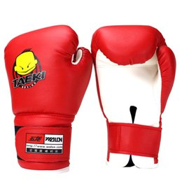 Wholesale Cartoon Train Box - Sport Child Durable Boxing Gloves Pu Leather Cartoon Sparring Kick Fight Marate Mma Gloves Training Fists Muay Thai Sandbag