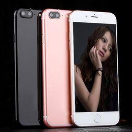 Wholesale Goophone Free Shipping - HOT Free shipping Goophone i7  i7 Plus MTK6582 fingerprint unlocked smartphone Dual Core Android 6.0 5.5'QHD 4G LTE phones PK S8 plus
