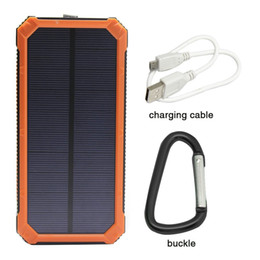 Wholesale Tablet W Cell Phones - Hot Portable 12000mAh Solar Charger Power Bank Dual USB LED For Mobile Phone Tablet