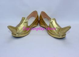 Wholesale Clown Custom - Wholesale-Arabian Arab princess clown style gold Cosplay Shoes boots new version #JZ147 hand made Custom made