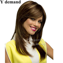 Wholesale Hair For Sale Online - Classic Long Brown Wig Celebrity Cheap Wigs Online Wigs For African American Women Peruca Cabelo Natural Hair Sale Perucas