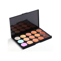 Wholesale Pro Chocolate - 2016 Professional 15 Colors Concealer Foundation Contour Face Cream Makeup Palette Pro Tool for Salon Party Wedding