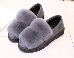 Wholesale Totoro Home Slippers - Totoro Cute Cat Cartoon Animal Women Couples Home Slipper For Indoor House Bedroom Flats Comfortable Warm Winter Shoes cony hair boots
