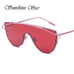 korea sunglasses Coupons - Wholesale- Age New Designer Oversized Sunglasses Women Korea Metal Frame Ladies Mirror Men Sun Glasses Luxury Oculos