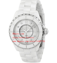 Wholesale Diamond Series - Luxury Fashion Ceramic Bezel Bands Ladies Watch Classic Series 33mm Brand J-12 Diamond Dial VK Quartz Women's Watches