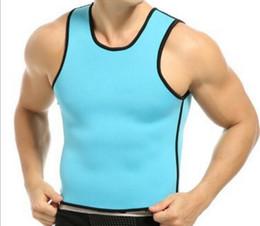 Wholesale Latex Waist Shapers Wholesale - Top Ultra Sweat men's body shapers Slimming Belt Belly Sweat Corset Neoprene Waist Trainer Round neck Vest Cincher Rubber latex