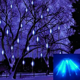 Wholesale Meteor Christmas Lighting - 2016 new 30cm Meteor Shower Rain Tubes Led Light Lamp 100-240V EU US Plug Christmas String Light Wedding Garden Decoration Xmas