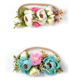 Wholesale Photography Ornament - Baby girls hair accessories Grass flowers headbands Bridal wedding hairband children studio photography hair ornaments G1083