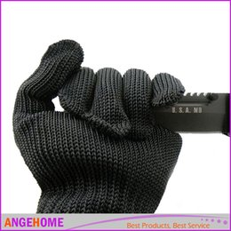 Антирежущие перчатки онлайн-1 пара защитных перчаток из нержавеющей стали Защитная сетка из металлической сетки Анти-режущие дышащие рабочие перчатки