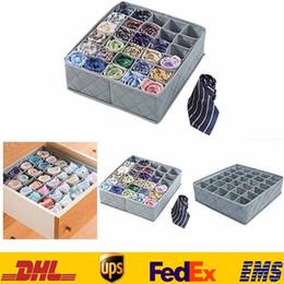 Wholesale Storage Boxes Underwear - Creation Underwear Sock Tie Storage Organizer Drawer Bra Pants Divider Tidy Wardrobe Boxes Bins Gifts HH-S22
