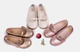 Wholesale Girl Princess Shoes - Baby shoes of the girls in the spring and autumn flowers female children's shoes elastic girls princess new children soft leather shoes sing