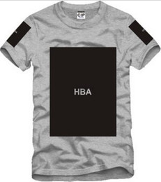 Camisas trilhas on-line-Frete grátis tamanho chinês S - 3XL 2014 verão camiseta Hood By Air HBA X sido Trill Kanye impressão em branco Hba tee homens tshirts 5 cor 100% algodão