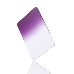 "Wholesale Graduated Color Filter Cokin - 100x150mm 4""x6"" Graduated Purple Color Filter For Cokin Z-Pro LEE HITECH Holder"