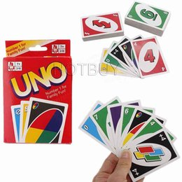 Wholesale Puzzle Card Games - Standard Fun UNO Card Game 108 Playing Cards Playing Family Children Friends Puzzle Game #4178