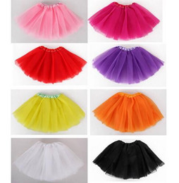 Wholesale Toddler Girls Pettiskirt Outfits - Baby Girl Clothes Kids Toddlers Children Fluffy Tutu Pettiskirt Skirt Dancewear Ballet Outfit Clothing
