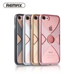 2019 cas de téléphone remax Étuis de téléphone portable pour Apple iPhone 7 cas d'origine Remax TPU + cadre PC + support de bague support cas de téléphone pour iPhone 7 plus couverture cas de téléphone remax pas cher