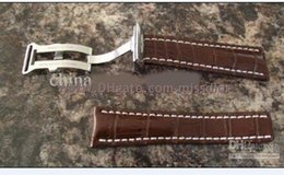 Wholesale Navitimer Strap - High quality Luxury Brown Bands 24mm Crocodile Croco Leather Strap Bentley Navitimer Mens Watch Men's Watches